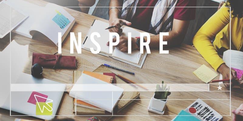 Inspireer het Creatieve Hoopvolle Concept van Aspiratieverwachtingen royalty-vrije stock foto's