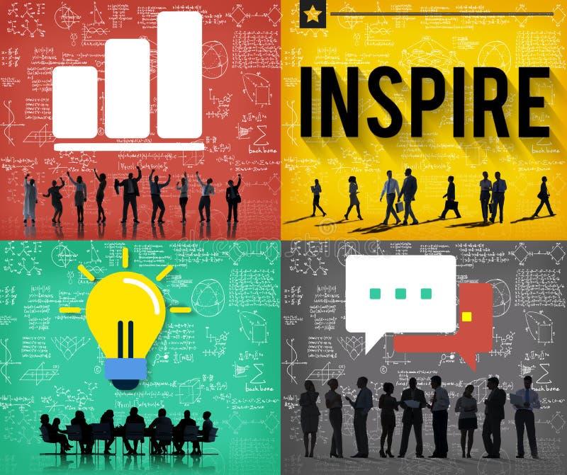 Inspireer Hoopvolle Concept van de Inspiratie het Creatieve Visie royalty-vrije illustratie