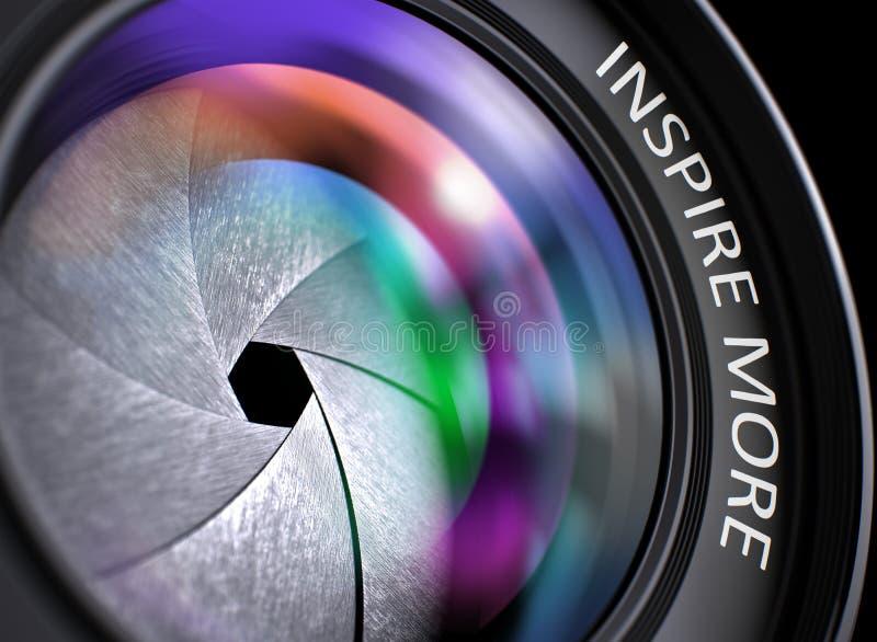 Inspireer Meer Concept op de Lens van de Camerafoto 3d royalty-vrije illustratie