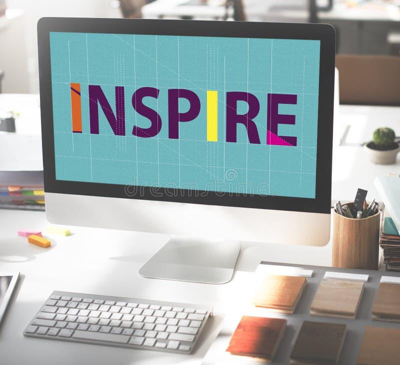 Inspirera begreppet för vision för målet för ambitionförtroendedrömmar arkivbild
