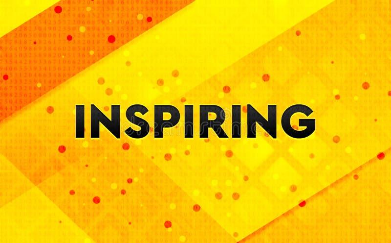 Inspirera gul bakgrund för abstrakt digitalt baner royaltyfri illustrationer