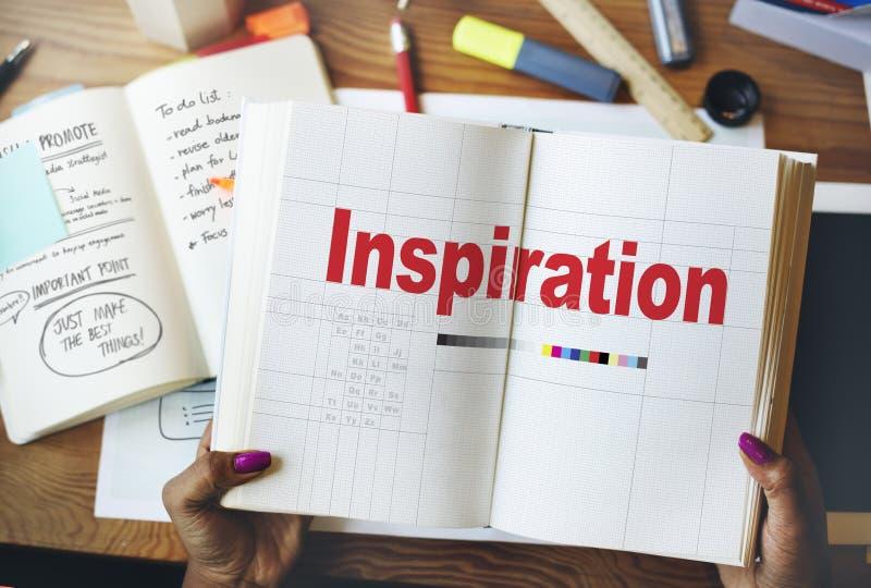 Inspirera inspirerande inspiration motiverar inför nyheter begrepp arkivfoto