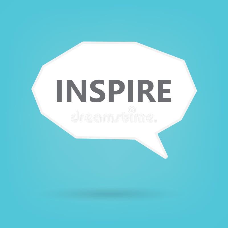 Inspirera ordet på anförandebubbla royaltyfri illustrationer