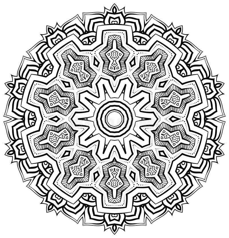 Inspirerad Mandala för Aztec fotografering för bildbyråer