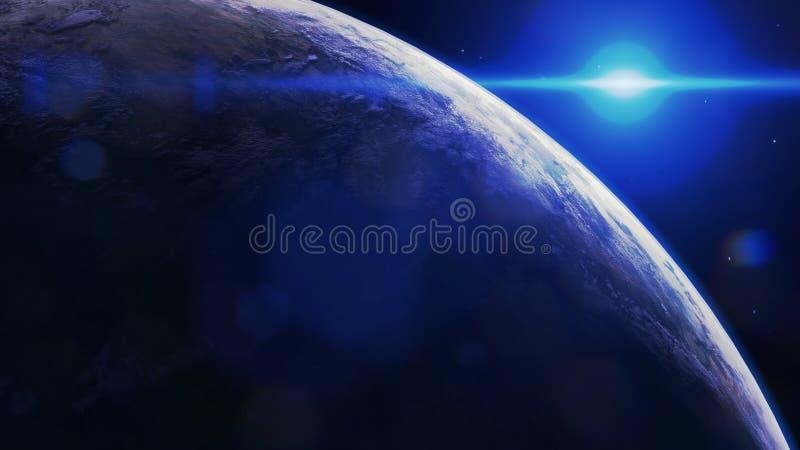 Inspirerad planet för Scifijord, fantasi royaltyfri fotografi