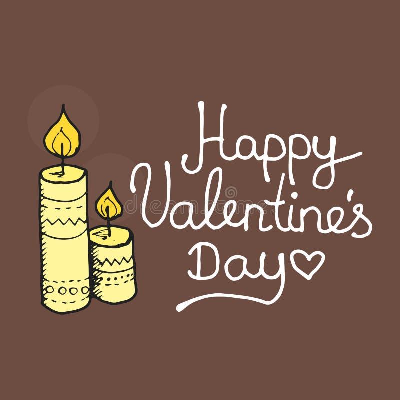 Inspirerande romantiker- och förälskelsekort för lyckligt vektor illustrationer