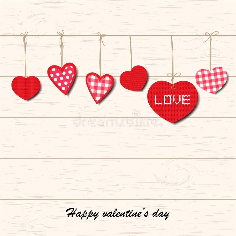 Inspirerande romantiker- och förälskelsekort med valentin dag royaltyfri illustrationer