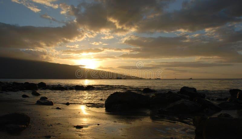 Inspirerande solnedgång arkivfoton