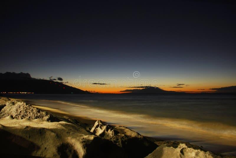 Inspirerende zonsondergang stock afbeeldingen