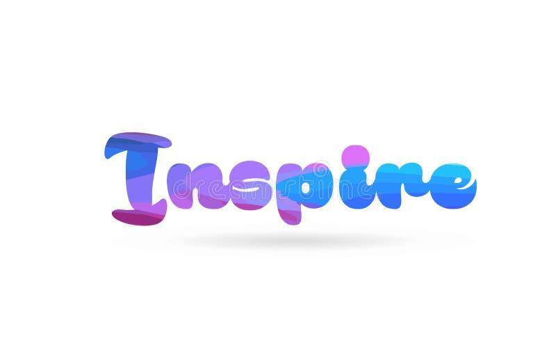 inspirez l'icône bleue rose de logo des textes de mot de couleur illustration stock