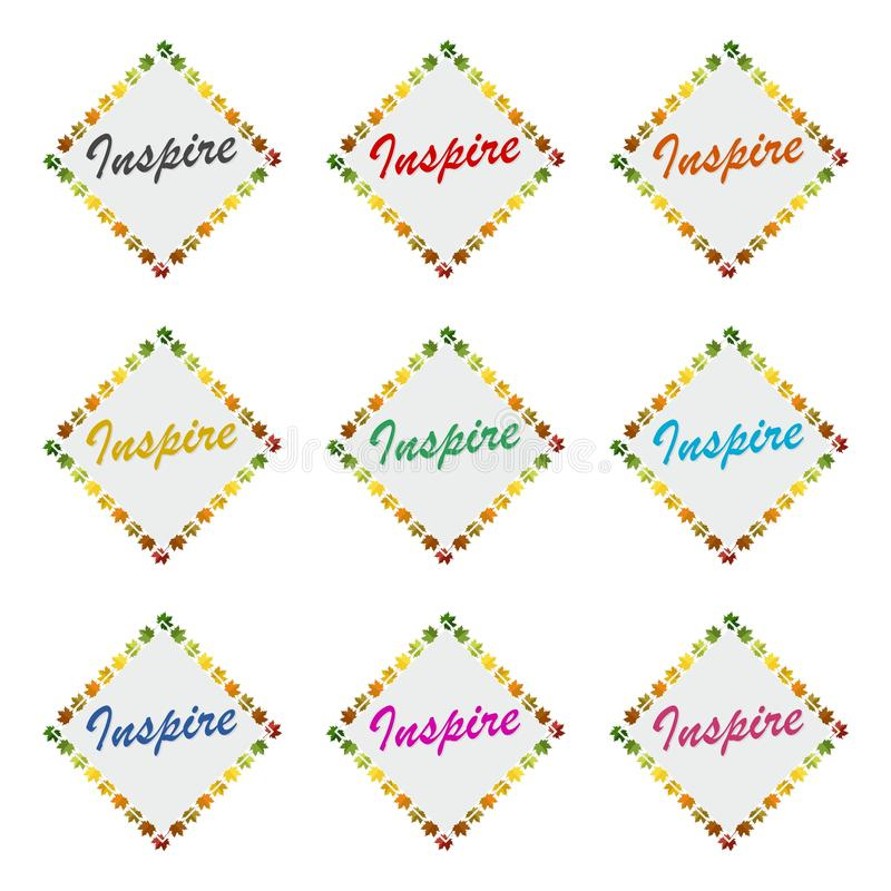 Inspirez marquer avec des lettres l'icône ou le logo, ensemble de couleur illustration de vecteur