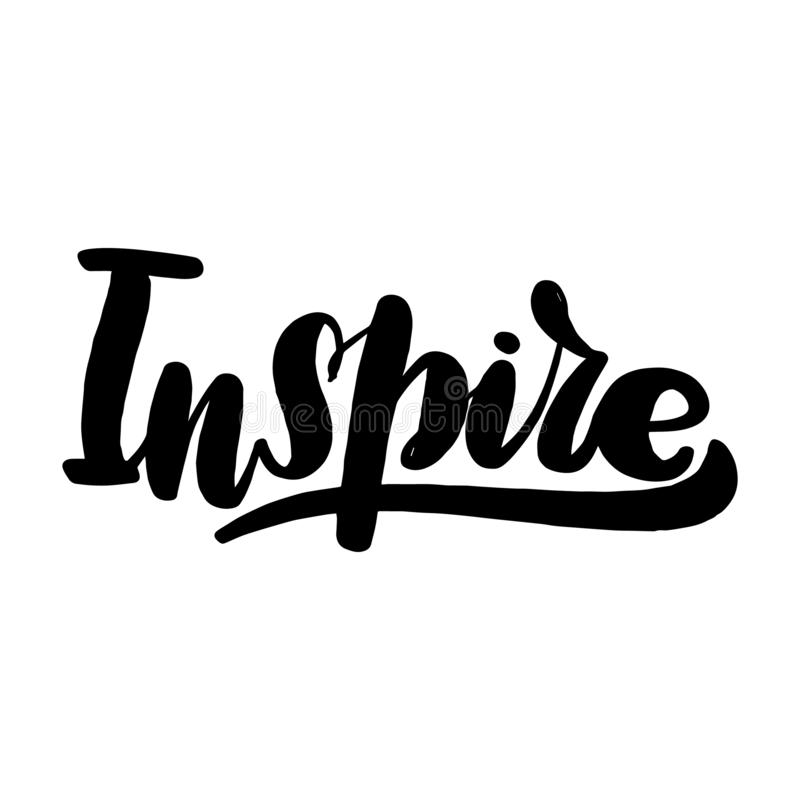 Inspirez marquer avec des lettres la carte de voeux typographique illustration de vecteur