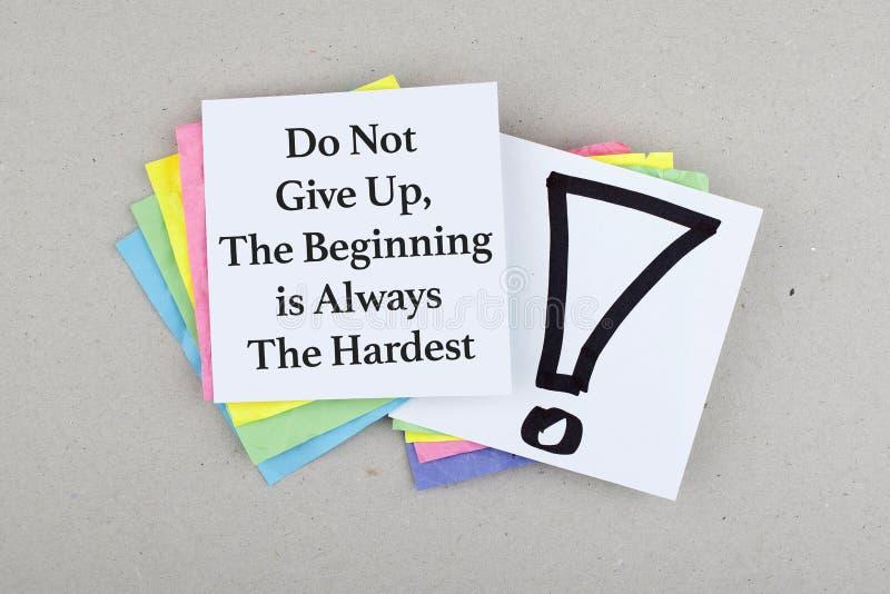 Inspirierend Geschäfts-Motivphrase/Zitat lizenzfreie stockbilder