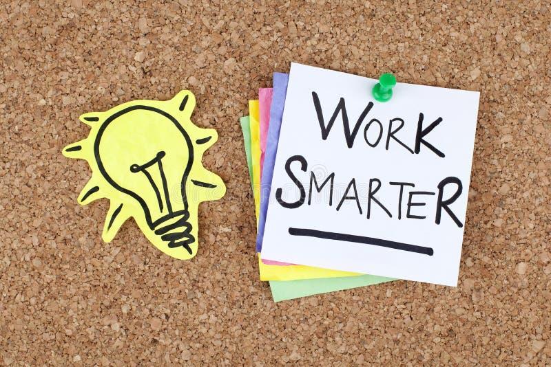 Inspirierend Motivgeschäftserfolg-Phrasen-Anmerkungs-Arbeit intelligenter lizenzfreies stockbild
