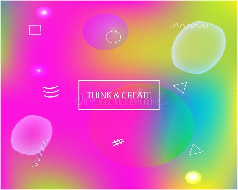 Inspiring colorful modern background. Vibrant backdrop with simple muffled colors. Vector illustration layout. Pink easy editable and soft colored banner stock image