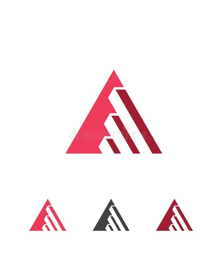 Inspiring triangle business growth vector logo. Abstract business company logo. Corporate identity design element. Development, finance, bank logotype idea stock illustration