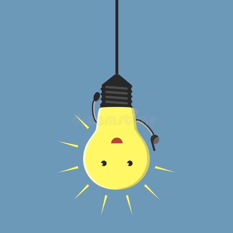 Inspirowany lightbulb charakter ilustracji