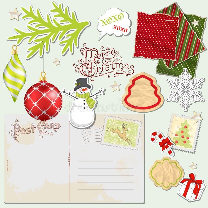 Inställd jul vektor illustrationer