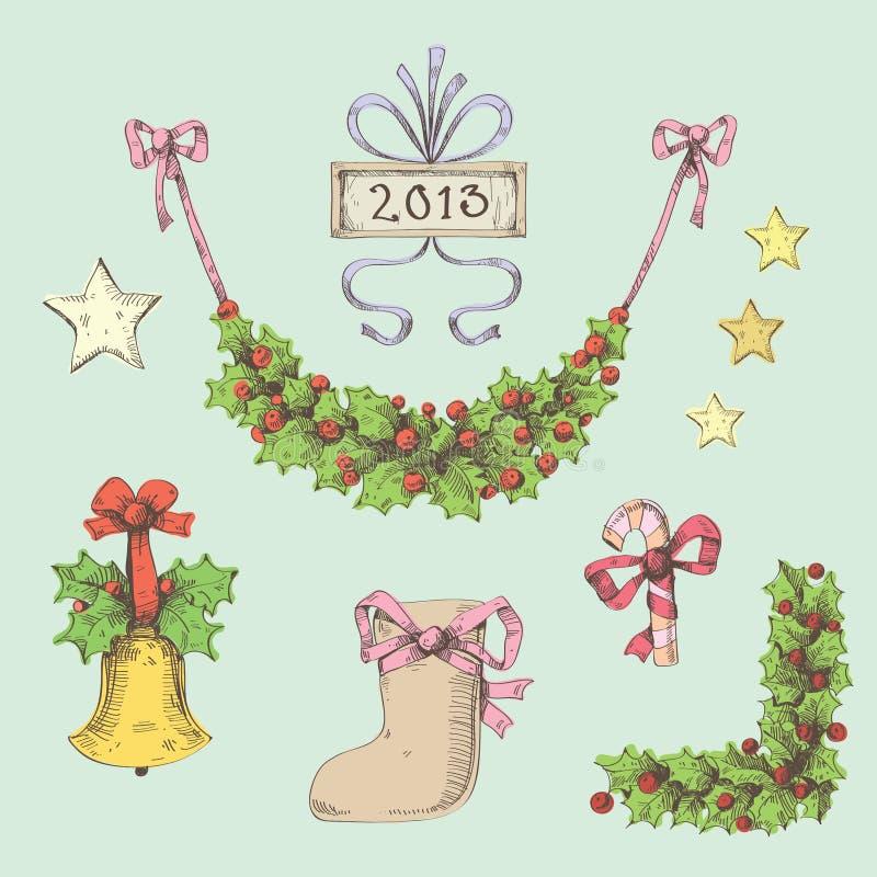 Download Inställd jul vektor illustrationer. Illustration av helgdagsafton - 27285990