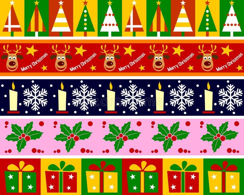 inställd jul för 1 kanter royaltyfri illustrationer
