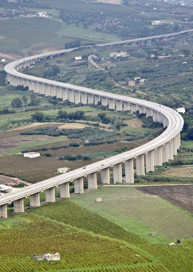 Inställd motorway arkivfoto