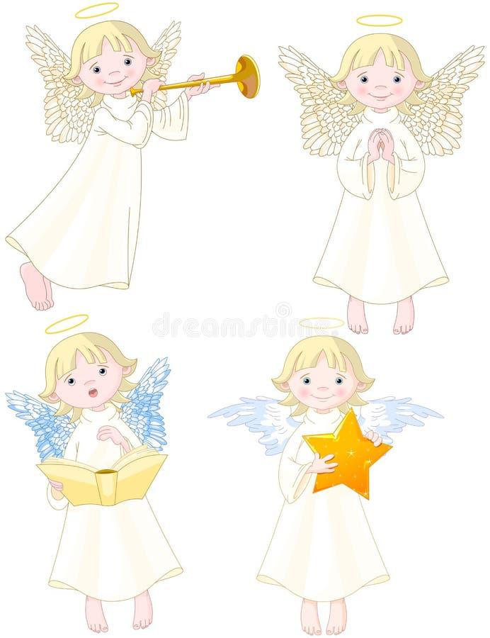 inställda änglar stock illustrationer