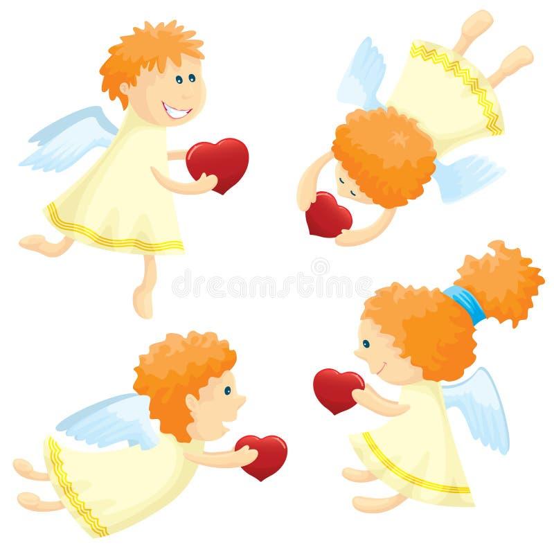 inställda änglar royaltyfri illustrationer
