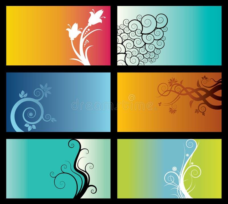 inställda abstrakt bakgrunder vektor illustrationer