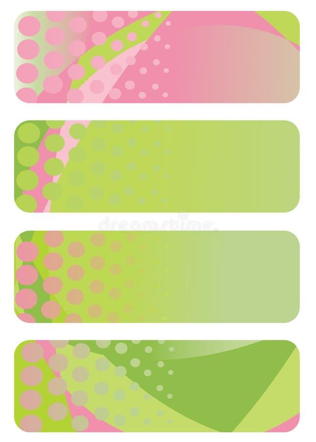 inställda abstrakt baner vektor illustrationer