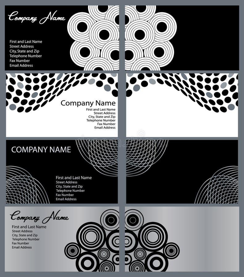 inställda affärskortdesigner vektor illustrationer