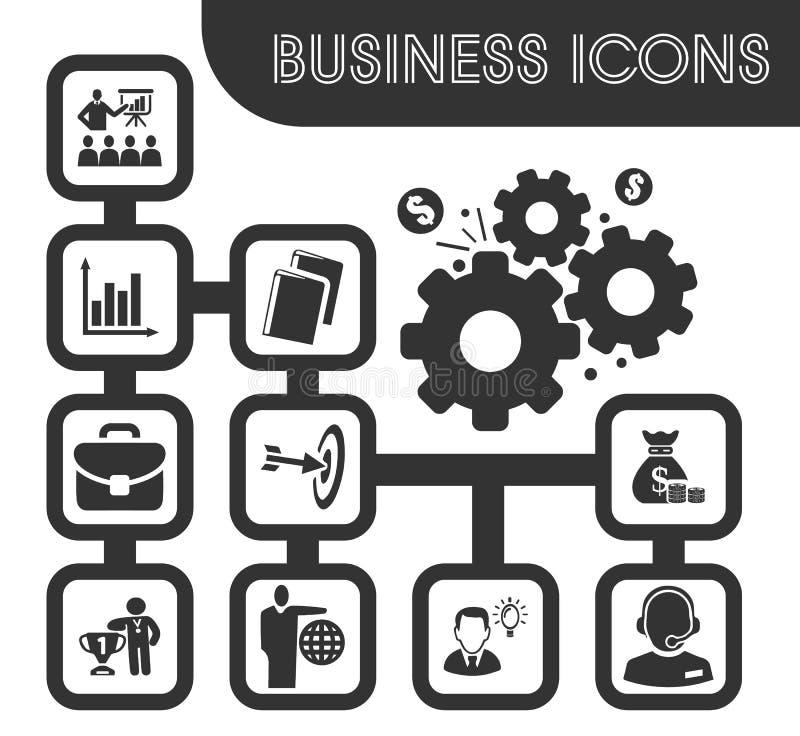 inställda affärssymboler vektor illustrationer