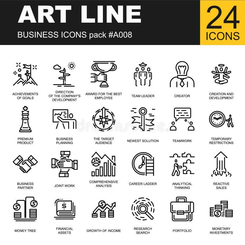 inställda affärssymboler Vektorillstration av teamwork royaltyfri illustrationer