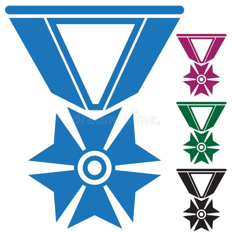 inställda armémedaljer royaltyfri illustrationer