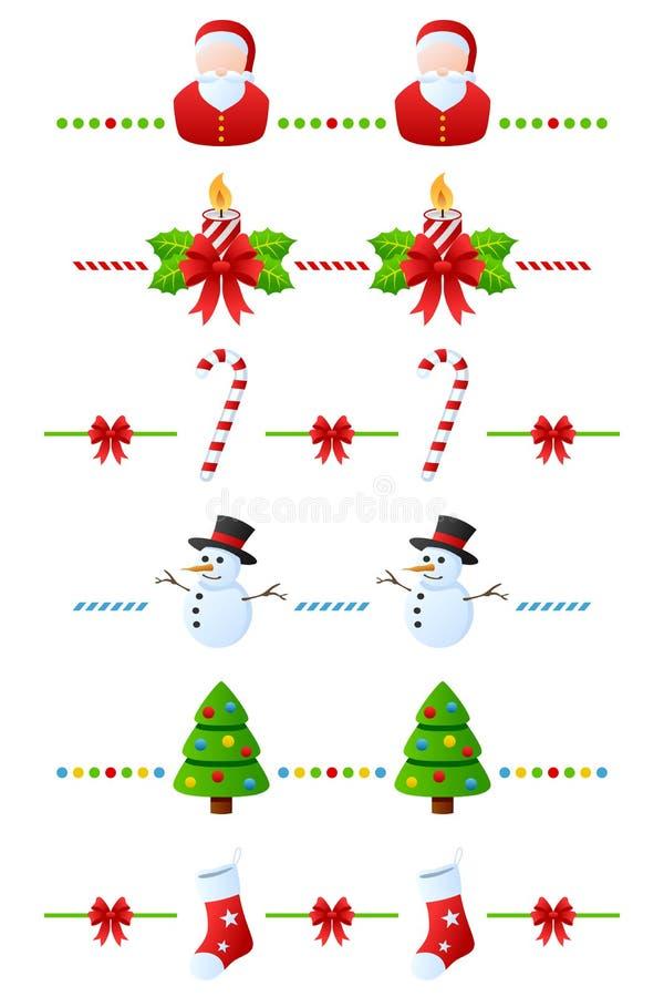 inställda avdelare för 1 jul royaltyfri illustrationer