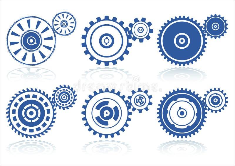 inställda b-kugghjul vektor illustrationer