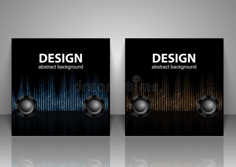 inställda bakgrunder för illustrationljudet för bakgrund vågr den svarta vektorn white MusikDigital utjämnare vektor illustrationer