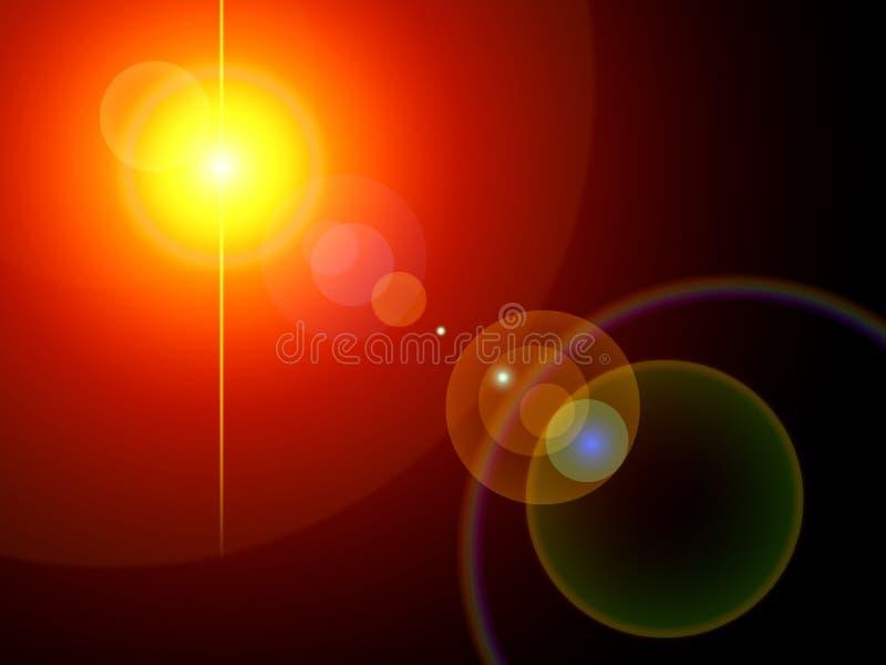 inställda bakgrundslampor royaltyfri illustrationer