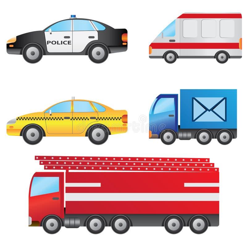 inställda bilar vektor illustrationer