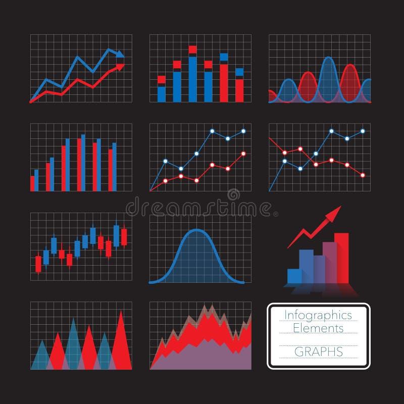 inställda diagram vektor illustrationer