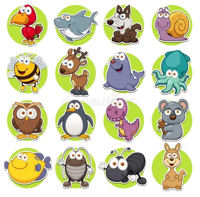 inställda djur royaltyfri illustrationer
