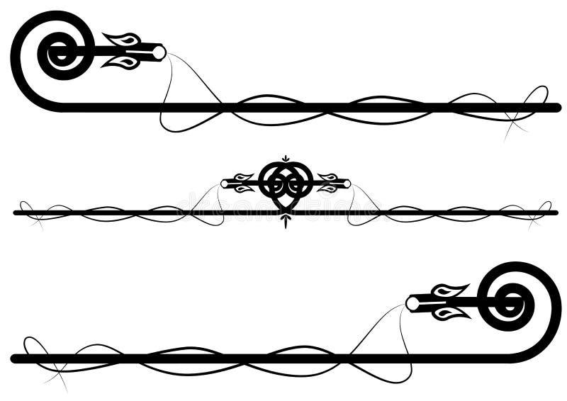 inställda drakar vektor illustrationer
