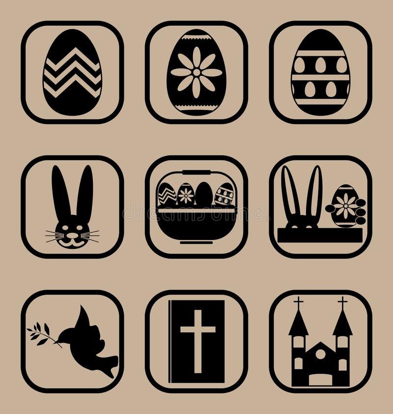 inställda easter symboler arkivbild
