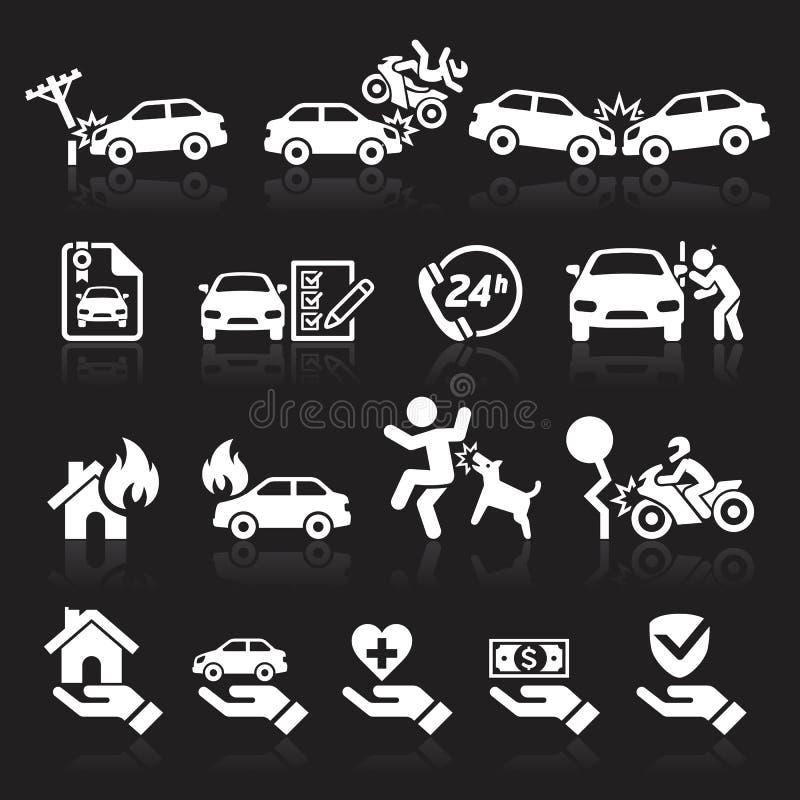 Inställda försäkringsymboler royaltyfri illustrationer