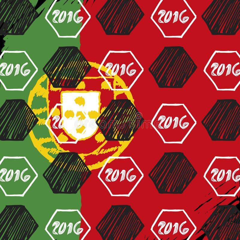 inställda flaggor royaltyfri illustrationer