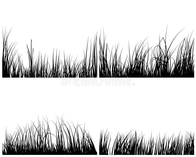 inställda gräs vektor illustrationer