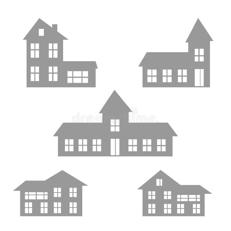 inställda hussymboler vektor illustrationer