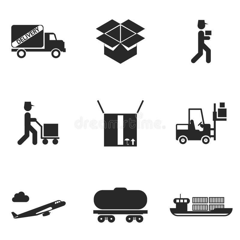 inställda leveranssymboler stock illustrationer