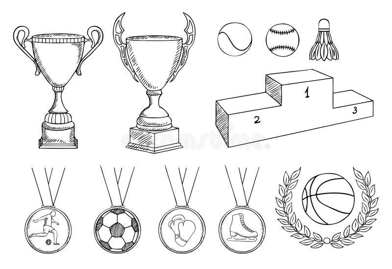 inställda mästerskapobjekt vektor illustrationer