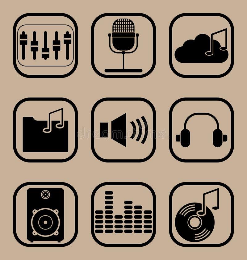 Inställda musiksymboler arkivbilder