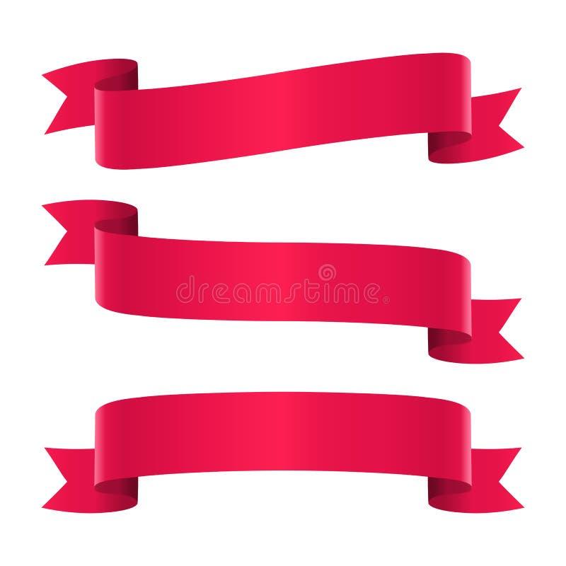 inställda röda band royaltyfri illustrationer